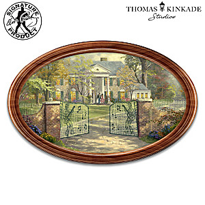 Thomas Kinkade Graceland Framed Collector Plate