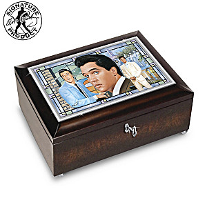 Elvis Presley Amazing Grace Music Box With Bruce Emmett Art