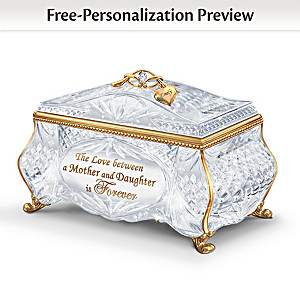 "Mother Daughter ""Facets Of Love"" Personalized Music Box"