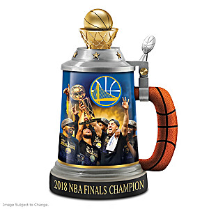 Warriors 2018 NBA Finals Champion Porcelain Stein
