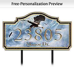 "Ted Blaylock ""Eagle Majesty"" Personalized Address Sign"