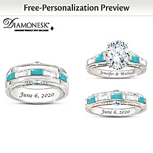 """Sacred Promise"" His & Hers Personalized Wedding Rings"