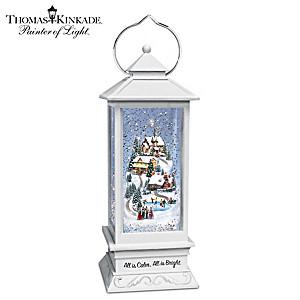 Thomas Kinkade Illuminated Musical Holiday Snowglobe Lantern
