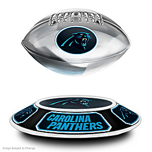 Panthers Levitating Football Lights Up And Spins