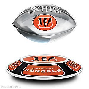 Bengals Levitating Football Lights Up And Spins