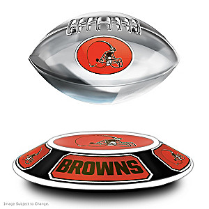 Browns Levitating Football Lights Up And Spins