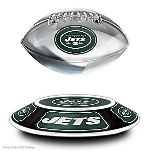 Jets Levitating Football Lights Up And Spins