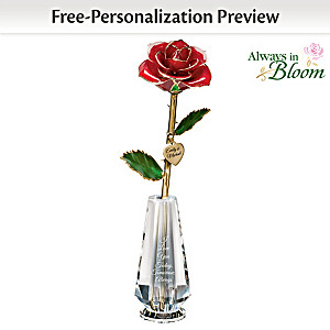 """I Love You Today, Tomorrow, Always"" Real Rose Centerpiece"