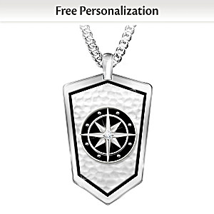 """""""Forge Your Own Path"""" Personalized Necklace for Grandson"""