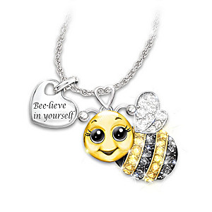 """Always Bee Yourself"" Swarovski Crystal Pendant Necklace"