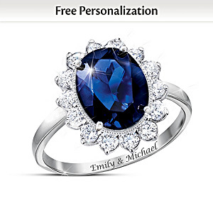 Romantic Royal Family-Inspired Personalized Diamonesk Ring