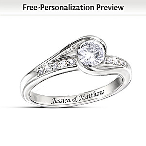 Personalized Conflict-Free Lab-Created Diamond Wedding Ring