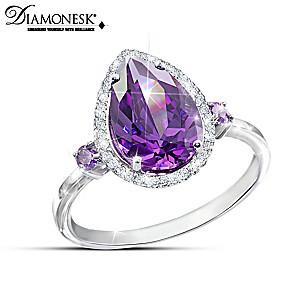 """Purple Passion"" Diamonesk Simulated Amethyst Fashion Ring"