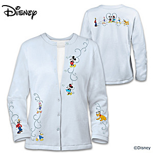 """Forever Disney"" Women's Cardigan With Embroidered Artwork"