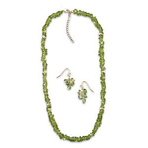 Nature's Splendor Jewelry Set With 150 Carats Of Olivine