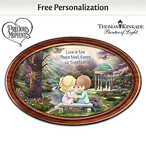 "Precious Moments ""The Magic Of Love"" Personalized Plate"