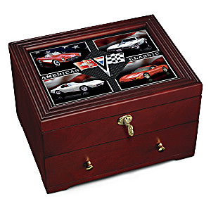 """Corvette: American Classic"" Wooden Keepsake Box"