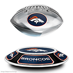 Broncos Levitating Football Lights Up And Spins