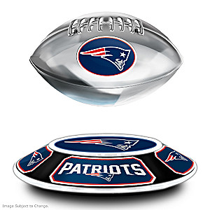Patriots Levitating Football Lights Up And Spins
