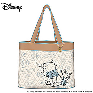 """Disney """"Winnie The Pooh A Classic Tale"""" Quilted Tote Bag"""