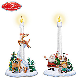"Rudolph ""Santa's Guiding Light"" Flameless Candle Set"