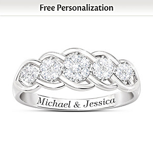 """Love Of A Lifetime"" Diamond Personalized Anniversary Ring"