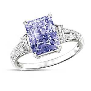 """""""Reflections Of Elegance"""" Color-Changing Stone Ring"""