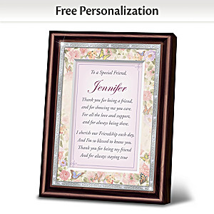 """My Special Friend"" Personalized Framed Poem"