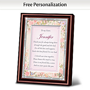 """My Sister, My Best Friend"" Personalized Framed Poem"