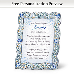 """Granddaughter, You Are A Treasure"" Personalized Framed Poem"