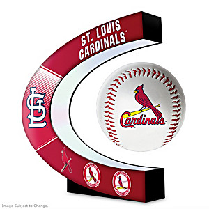 St. Louis Cardinals Levitating Baseball Lights Up And Spins