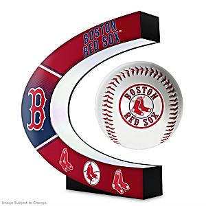 Boston Red Sox Levitating Baseball Lights Up And Spins