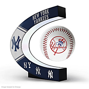 New York Yankees Levitating Baseball Lights Up And Spins