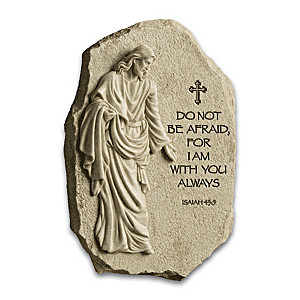 """I Am With You Always"" Inspirational Sculpted Jesus Plaque"