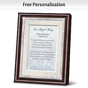 """On Angels' Wings"" Personalized Framed Remembrance Poem"