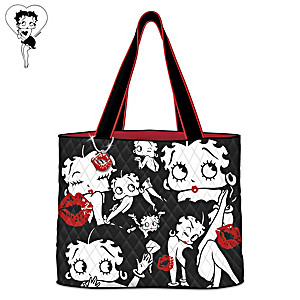 "Betty Boop ""Sassy Style"" Quilted Fabric Tote Bag"