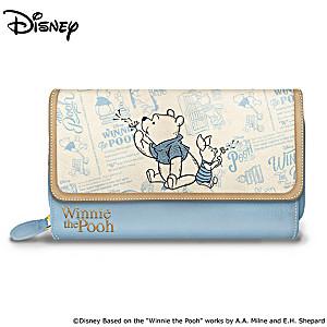 """Disney """"A Classic Tale"""" Winnie The Pooh Tri-Fold Wallet"""