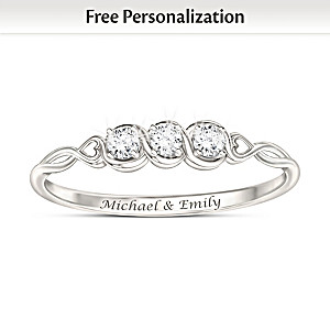 """Love's Faithful Promise"" Personalized Diamond Ring"