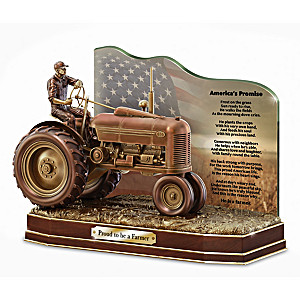 """""""The American Farmer"""" Cold-Cast Bronze Sculpture With Plaque"""