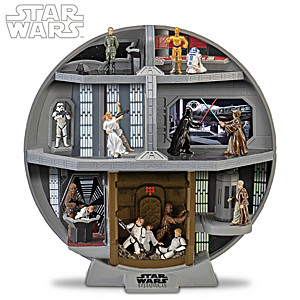 STAR WARS Death Star Diorama With 7 Classic Scenes