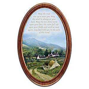 "Edmund Sullivan ""Irish Blessings"" Framed Collector Plate"