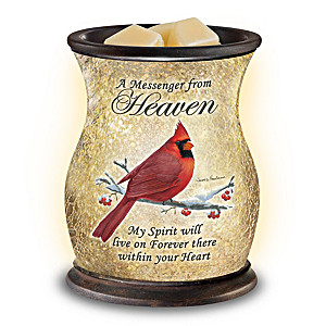 """Heavenly Comfort"" Illuminated Glass Wax Warmer"