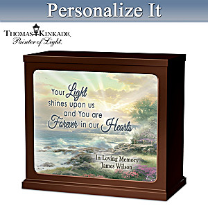 Thomas Kinkade Personalized Illuminated Tabletop Plaque