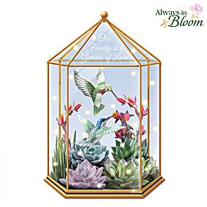 Lena Liu Illuminated Always in Bloom Succulent Terrarium