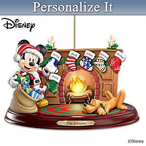 """Disney """"The Stockings Were Hung"""" Personalized Ornament"""