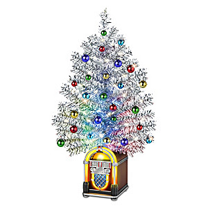 Illuminated Wireless Jukebox Tabletop Christmas Tree