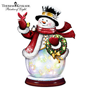 Illuminated Color-Changing Wireless Musical Snowman