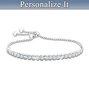 """I Love You More"" Personalized Diamonesk Bolo Bracelet"