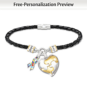 """My Hero"" Personalized Bracelet With Autism Society Donation"