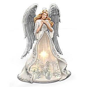 Illuminated Musical Angel Figurine With Nativity Scene